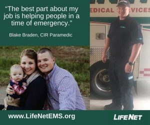 Blake Braden, Paramedic, LifeNet EMS, Stillwater, Oklahoma