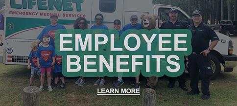 Employee Benefits for LifeNet Paramedics, EMT, Dispatcher, Jobs