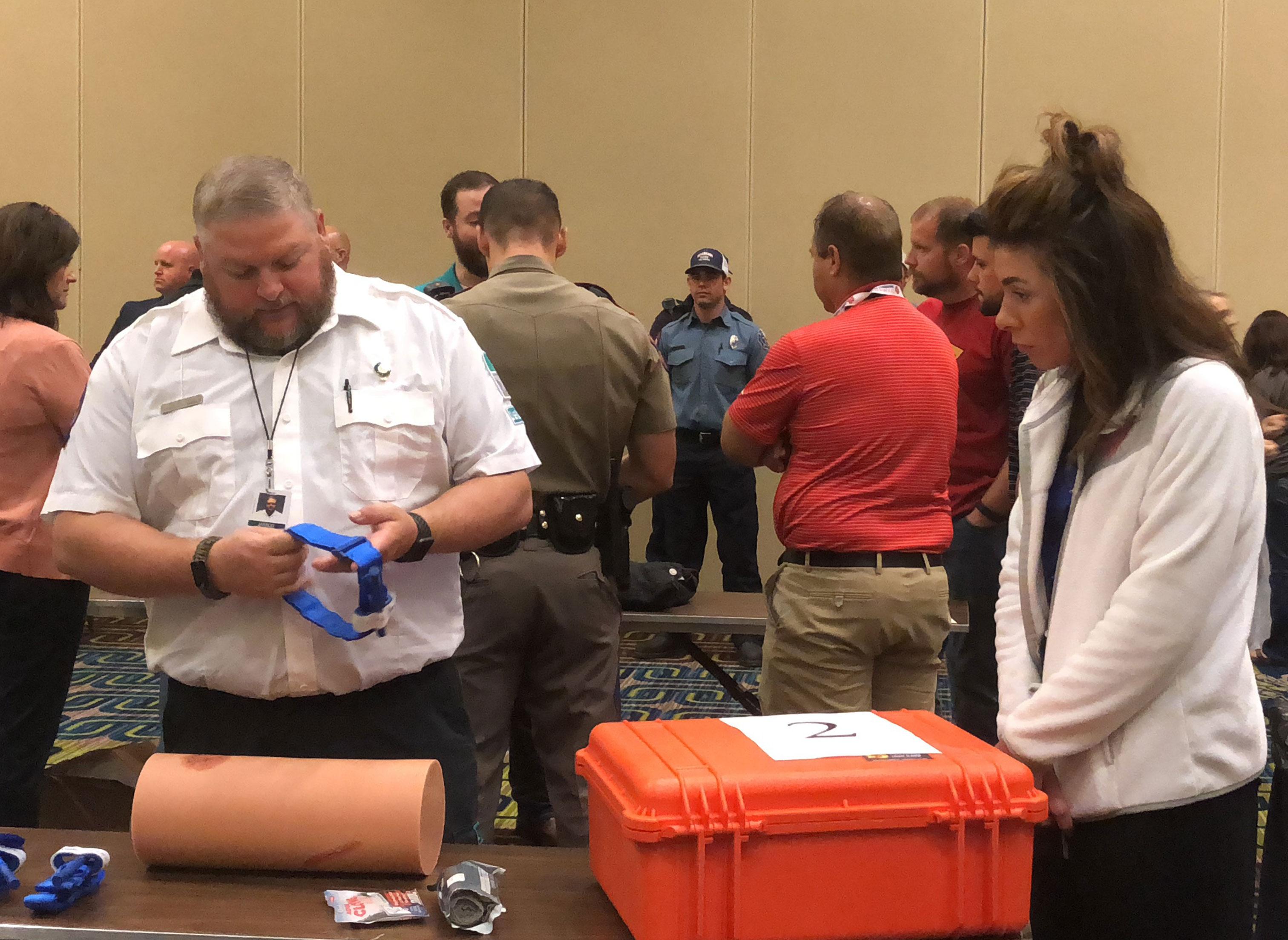 Jarod Null Teaches Stop the Bleed Training in Texarkana for LifeNet EMS