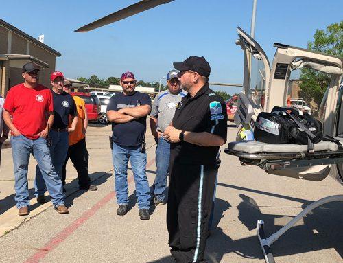 7 Area Volunteer Fire Departments Receive Landing Zone Training
