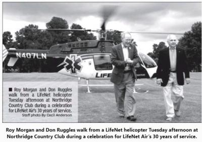 Roy Morgan, Don Ruggles, LifeNet Air 30th Anniversary Air Ambulance Texarkana Region