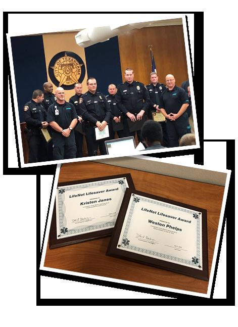 LifeNet Lifesaver Award | EMS Community Helpers