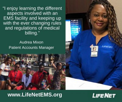Audrea Mixon, Patient Accounts, LifeNet EMS