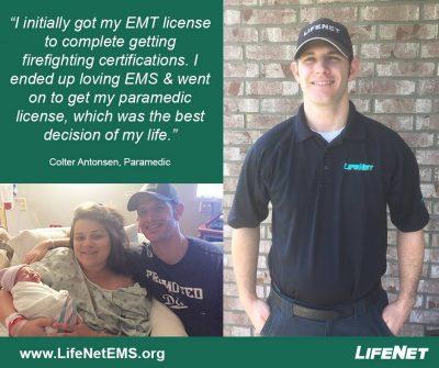 Colter Antonsen, LifeNet Paramedic in Hot Springs, AR