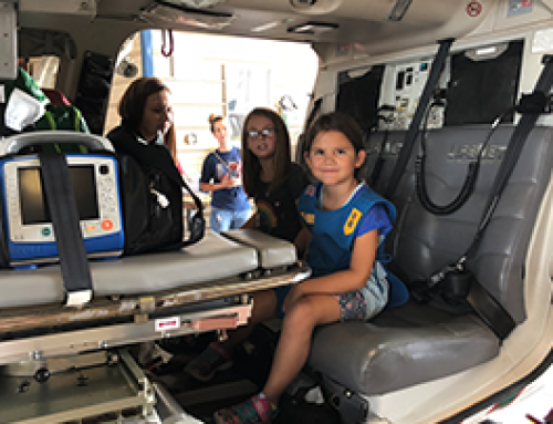 Girl Scout Troop 2048 tours LifeNet Air Hangar