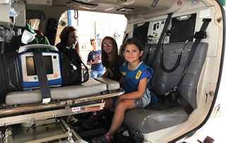 Girl Scout Troop 2048 tours LifeNet Air Medical Helicopter in Texarkana