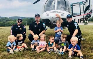 LifeNet Air 2 takes helicopter to Crossgate Preschool