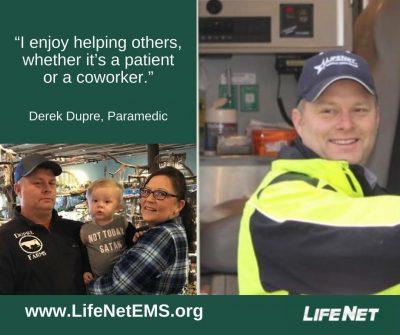 Derek Dupre, paramedic in Hot Springs, Arkansas at LifeNet