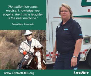Donna Berry, Paramedic, LifeNet EMS, Texarkana