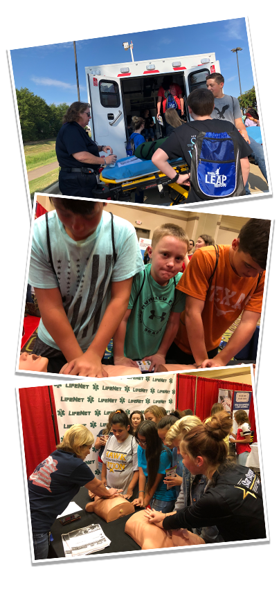 Leap Career Expo 2018 - Bystander CPR Demonstrations - LifeNet EMS