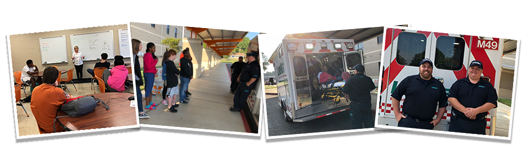 LifeNet visits Malvern Middle School Career Development Classes at teaches about careers in EMS.
