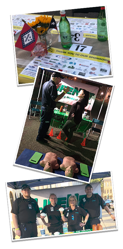 LifeNet EMS had a booth at Dine on the Line in Texarkana. This is a photo collage from the Main Street Texarkana fundraiser.