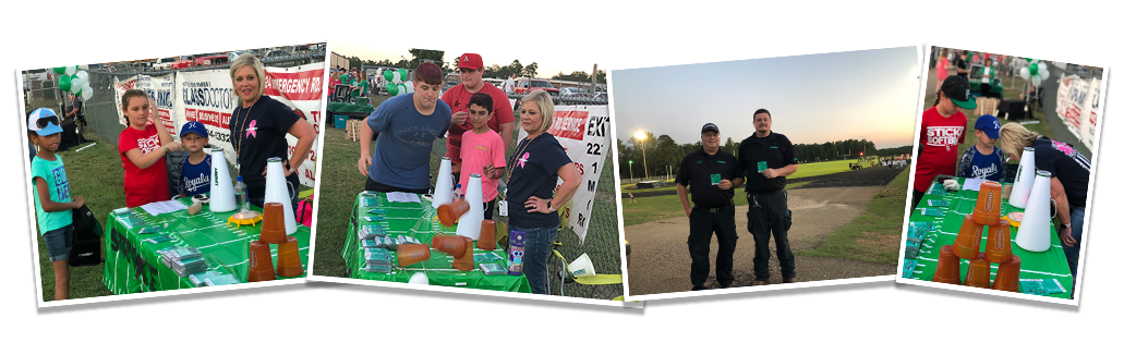 Images from the Friday Night Stroke Zone at Genoa Central High School taught by LifeNet EMS for stroke awareness in the community.