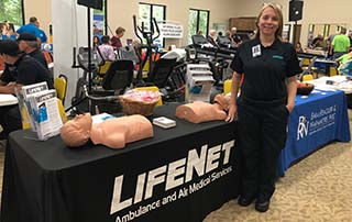 LifeNet teaches bystander CPR at the Good Samaritan Health Fair in Hot Springs Village, AR