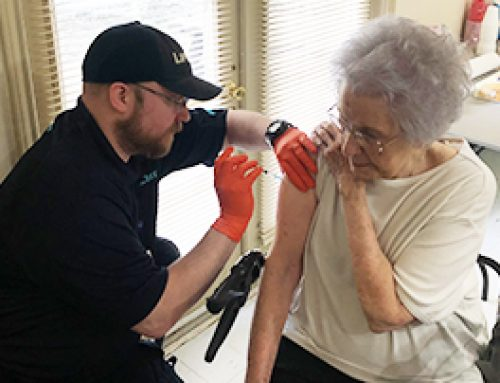 LifeNet Holds Mobile Flu Clinic at Senior Living Facility