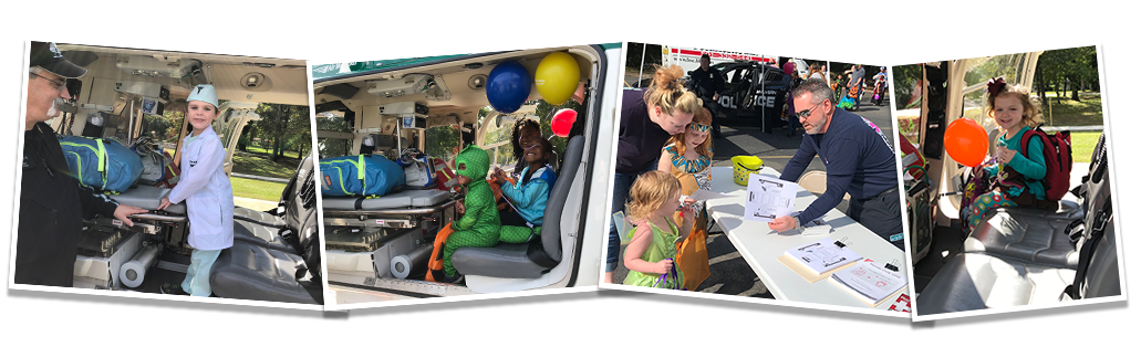 Images from Baptist Health's Fall Festival in Malvern featuring LifeNet EMS.