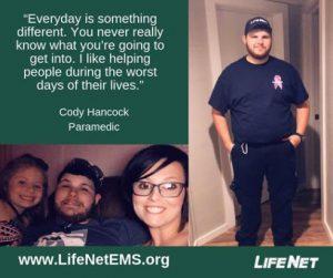 Cody Hancock, Paramedic, LifeNet EMS Texarkana