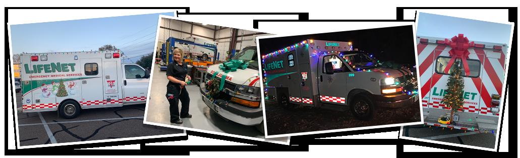 LifeNet EMS ambulance christmas parade ideas.