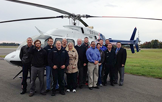 LifeNet Air 2 medical helicopter arrives in Hot Springs, Arkansas.