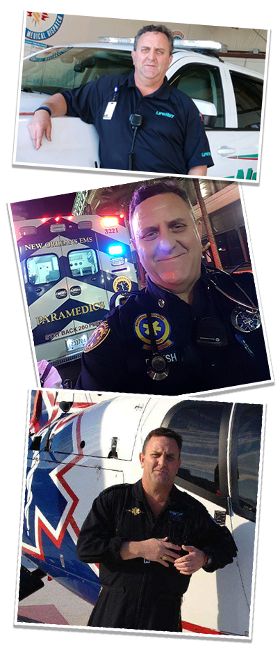 Dean Rush, 2019 Star of Life for LifeNet EMS in Hot Springs collage of career photos.