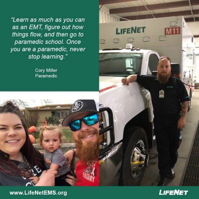 Cory Miller, Paramedic, LifeNet EMS, Stillwater, Oklahoma