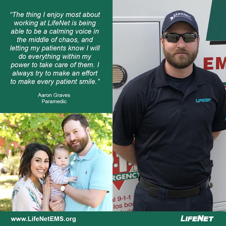 Aaron Graves is a Paramedic at LifeNet EMS in Texarkana, Texas.