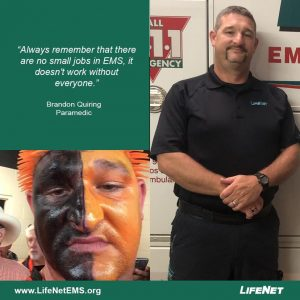 Brandon Quiring is a paramedic for LifeNet EMS in Stillwater, Oklahoma.