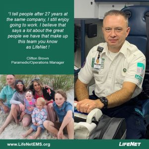 Clifton Brown is a paramedic with LifeNet EMS in Texarkana.