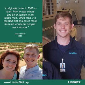 Jesse Hoover EMT Stillwater LifeNet EMS Oklahoma