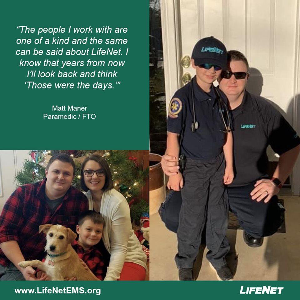Matt Maner, paramedic, LifeNet EMS in Hot Springs, Arkansas.