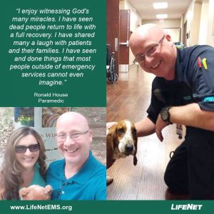 Ronald House is a paramedic for LifeNet EMS in Texarkana.