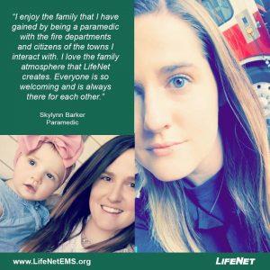 Skylynn Barker is a paramedic at LifeNet EMS in Denison, Texas