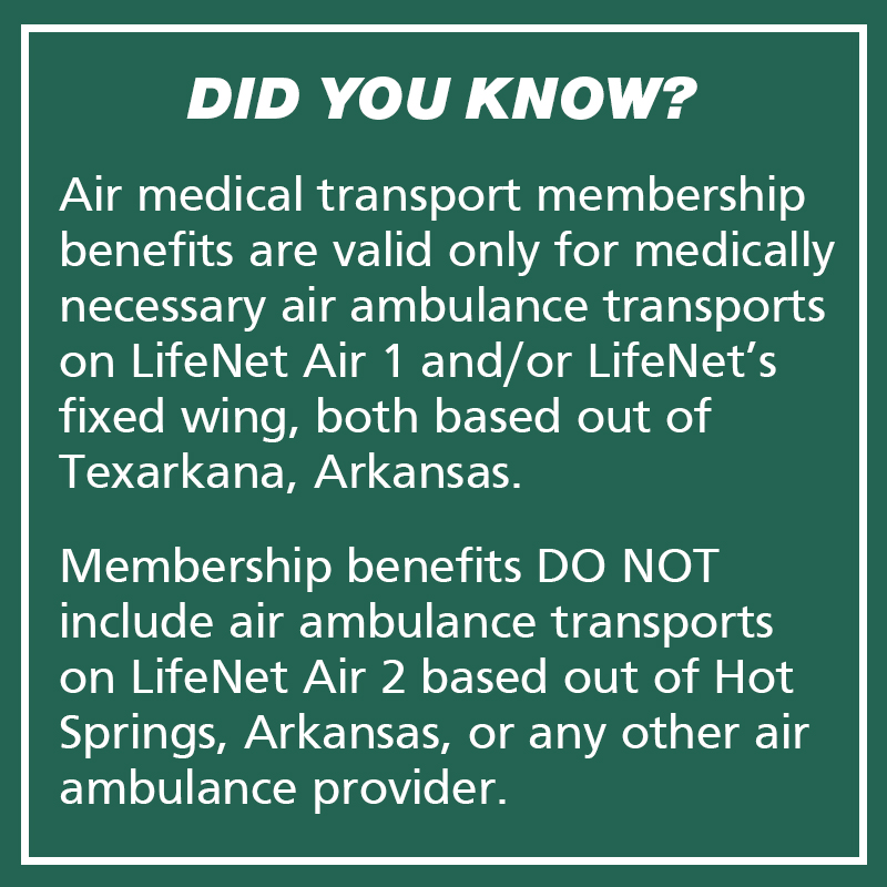 LifeNet Ground & Air Membership (Monthly)