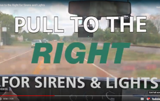 Move to the right for sirens and lights.